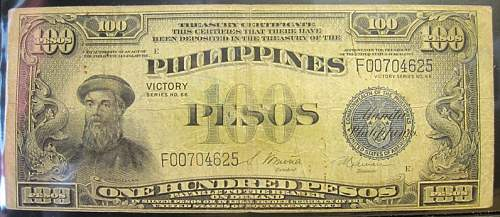 Click image for larger version.  Name:100 Philippines 100 pesos 1944 Victory.jpg Views:217 Size:208.1 KB ID:350793