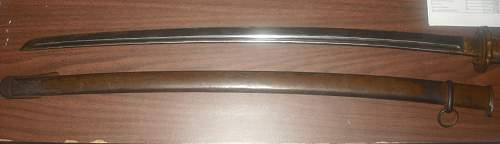 WWII Japanese NCO Sword Numbers matching LOW serial number!