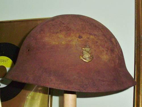 Named Japanese helmet