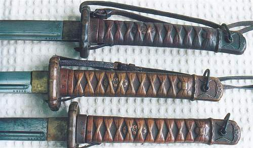 Click image for larger version.  Name:copper tsuka examples.jpg Views:1759 Size:103.7 KB ID:415034