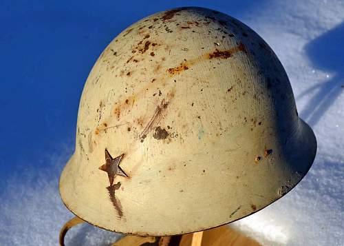 Japanese winter camo helmet