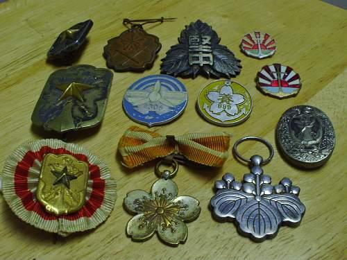 Japanese Badges/Medals.........