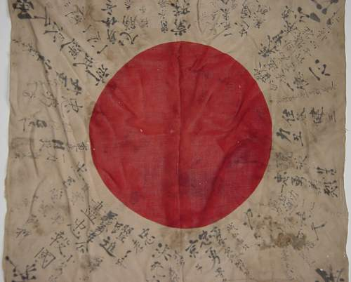 Japanese Soldiers Prayer flag and some personal effects