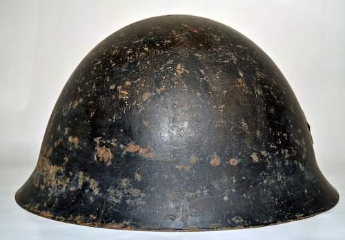 Black IJA helmet
