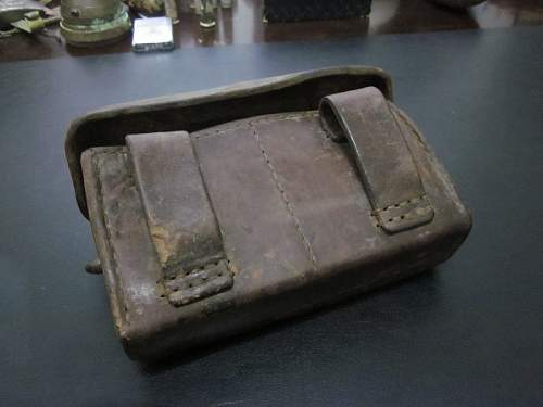 Japanese WW2 Leather Ammo Pouch