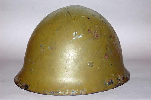 IJN/SNLF shipboard overpaint combat helmet