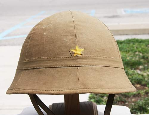 Japanese Cloth Pith Helmet