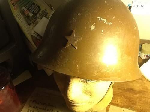 My new japanese type 90 helmet shell!!!!