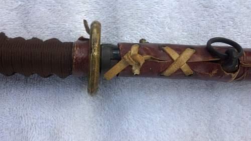 WWII Japanese sword.Late war?