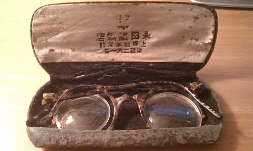 Japenese soldiers glasses?