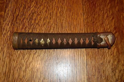 Type 98 sword wooden scabbard late war?