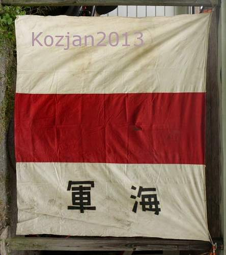 Help to ID Large WW2 Japanese Navy Flag from Battle of Kwajalein