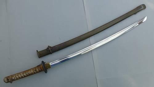 Latest catch a nice Gunto Type 95 NCO sword