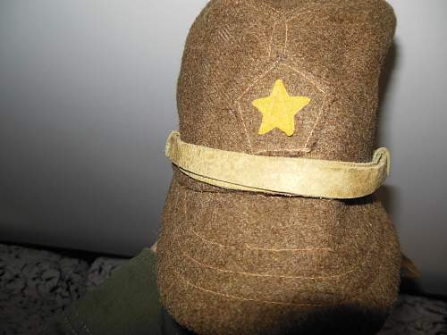 IJA Officer' s Cap with Field Made Flaps