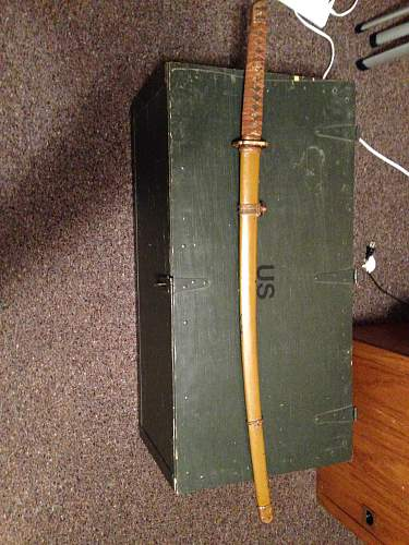 Hello I picked up this WW2 Japan sword