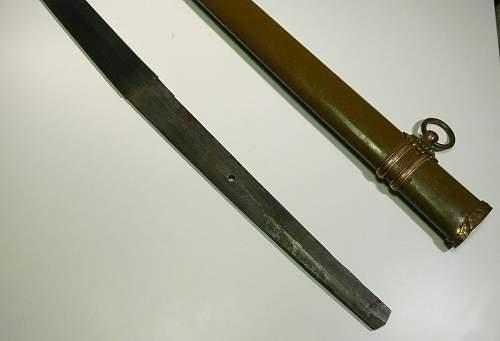 WW2 Japanese sword - real of fake - please advice.
