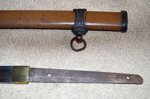 Japanese sword blade: help needed