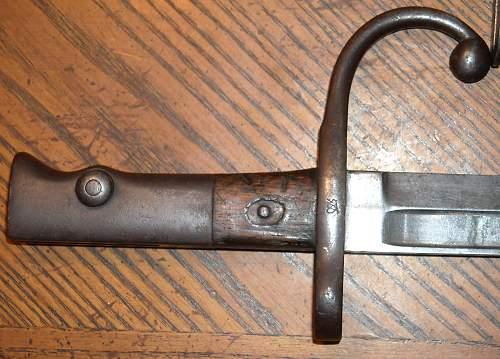 The rare type 22 Murata bayonet