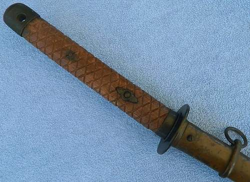 Input on late wooden handled NCO type 95, Fake or Authentic