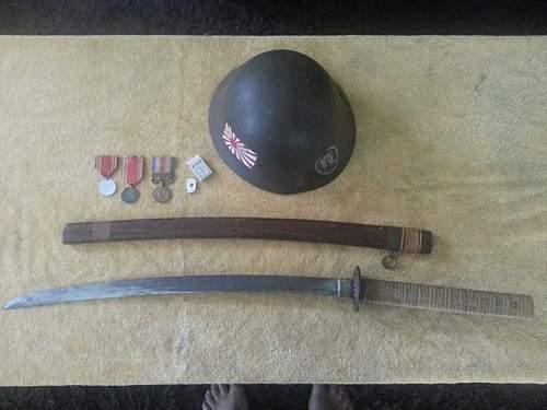 Is this Japanese sword and helmet original?