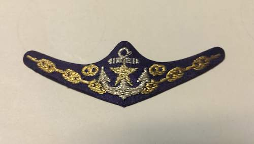 Imperial Japanese Navy Breast Insignia?