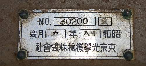 Japanese Optics - Type 98 Light (weight) Theodolite with Periscope