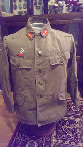 Japanese Warrant Officers Wool M98 Tunic