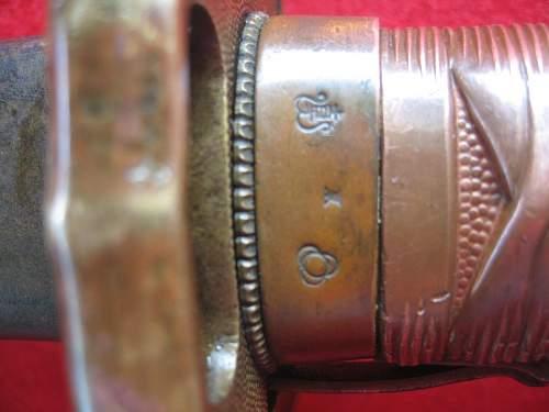 copper handle type 95 nco sword