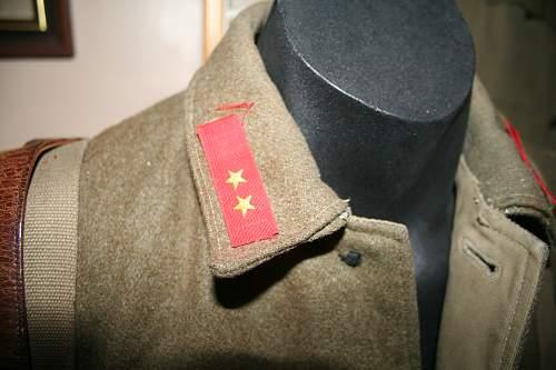 Correct method of attaching rank insignia?