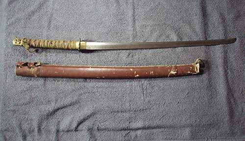 Japanese samurai sword made by the locals ???