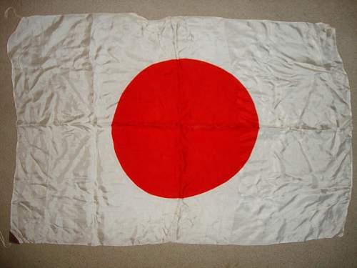 Imperial Japanese Hinomaru Yosegaki Flag