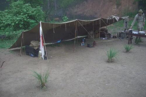 Japanese half shelter