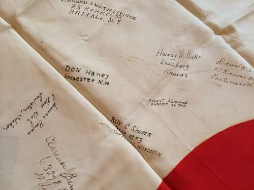 Japanese flag Vet signed!