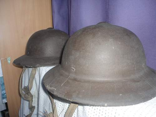Identifying these Civil Style Helmets Please