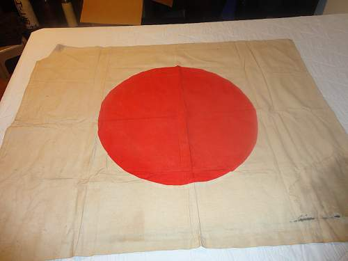 2 Japanese Flags I just picked up one with writeing