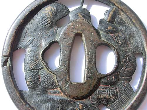 Click image for larger version.  Name:Tsuba sig distant.jpg Views:48 Size:339.2 KB ID:761641
