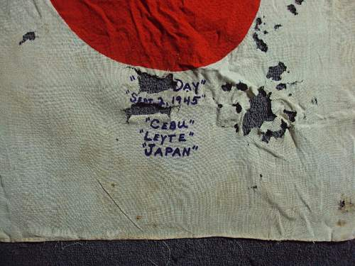 Japanese signed flag 97th division