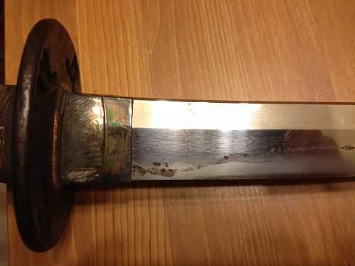 Japanese WW2 Officer's sword information