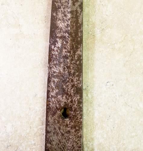 Grandfather's war sword, Japanese officer.