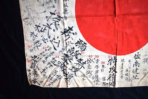 Translating a WWII flag from Sasebo