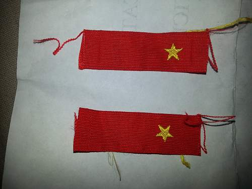 WW2 Japanese Private collar tabs unissued. Liberated from the Philippines.