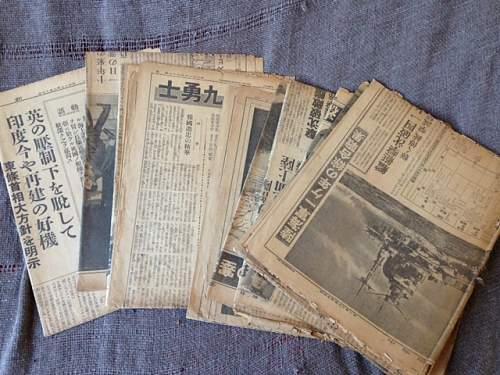WW2 Japanese newspapers