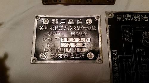 Japanese Equipment Plates