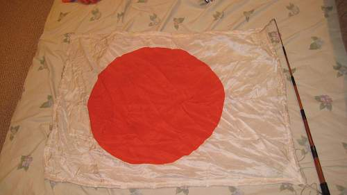 New find, WWII Japanese Sword and Flag