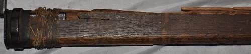 Japanese bayonet with bamboo scabbard