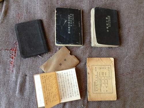 Japanese Service bag with contents