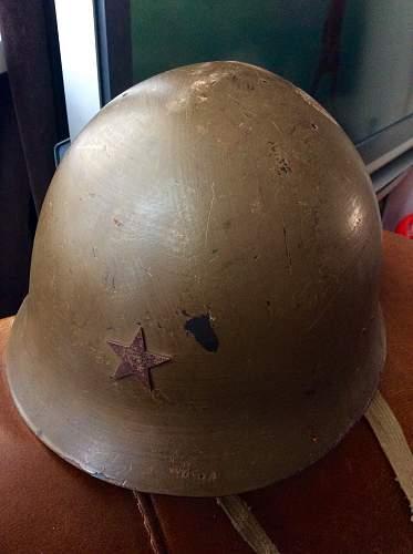 WW2 Type 90 Imperial Japanese Army helmet unknown kanji writing