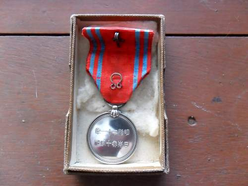 My Only Japanese Medal - Red Cross
