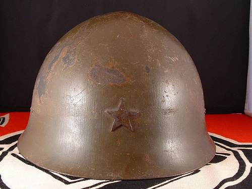 Click image for larger version.  Name:wwii japanese type 90 helmet - h124 - 1.jpg Views:292 Size:151.9 KB ID:895495