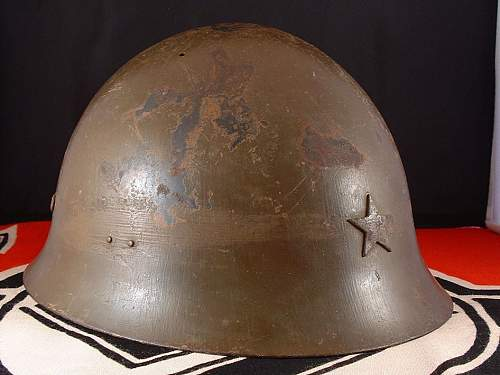 Click image for larger version.  Name:wwii japanese type 90 helmet - h124 - 2.jpg Views:108 Size:137.8 KB ID:895496